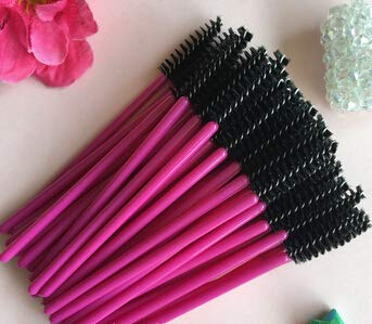 Brush Black - 1000pcs Make Up Brush Synthetic Fiber Disposable Eyelash Brush Mascara Cosmetic Tool Red Black Brush Head