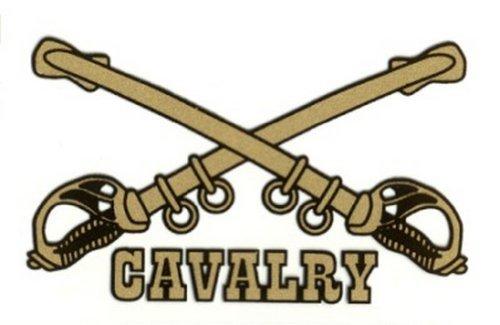 Cavalry Sticker - Army Cavalry Decal Sticker
