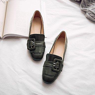 Cómodo y elegante soporte de zapatos de las mujeres pisos comodidad boda de piel sintética suela de luz de primavera verano otoño al aire libre oficina y carrera partido y vestido de noche Casual sopo rosa