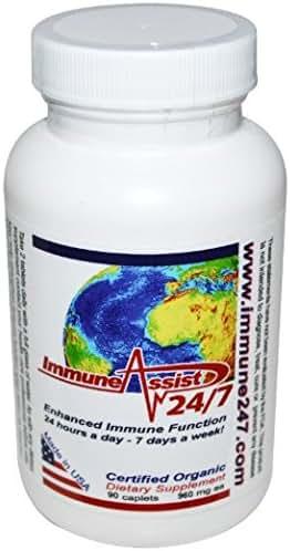 Aloha Medicinals – Immune Assist 24/7 - Daily Immune Support – Cordyceps militaris - Cordyceps sinensis - Mushroom Supplement – Antiviral Properties – Certified Organic – 960mg – 90 Capsules