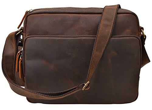 ALTOSY Vintage Leather Messenger Bag Office Briefcase Shoulder Bag 6252 (brown) by ALTOSY