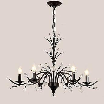 Schon 6 Lichter LED Kristall Kronleuchter Moderne Flamme Zweige Land Malerei Für  Wohnzimmer Schlafzimmer Restaurant Lampen E14