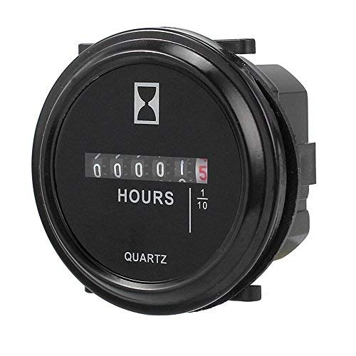Simply Silver Hour Meter - durable Hour Meter for Marine Boat Engine 2'' Round Gauge 12v 24v -Fast shipping by Simply Silver