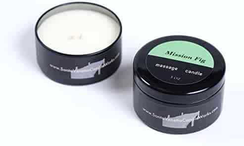 100% Natural - Hand Poured in the U.S. Pure Soy Massage Candle (Mission Fig)