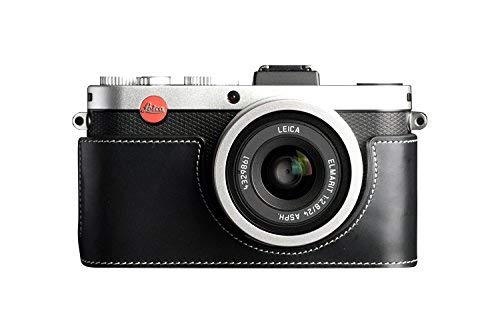 ライカ X2 X1 X-E Typ102用本革カメラケース ブラック B07RXBQRNF カメラケース&ストラップTP1881&バッテリーケース FreeSize