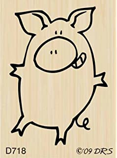 amazon com hula pig rubber stamp by drs designs arts crafts sewing