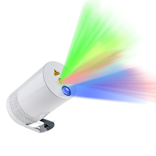 IMAXPLUS Portable Indoor and Outdoor Laser Lights Projector with Bluetooth Speaker,RGB Laser Lights Dance with Music Rhythm Perfect for Home Parties,Camping and Holiday