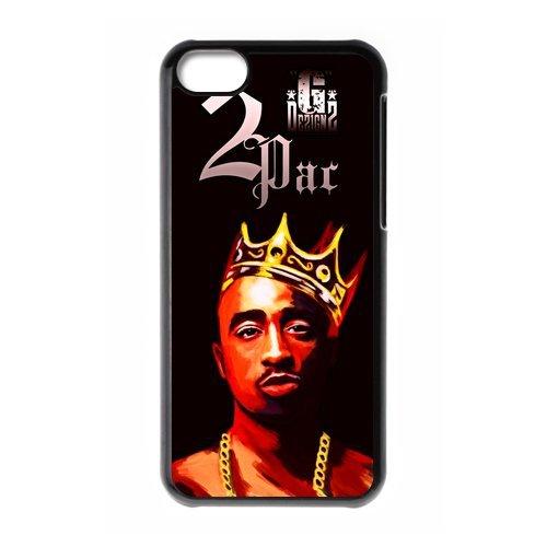 Eastar iPhone 5C Cover,Protective Hard TPU Guard Case for Apple iPhone 5C,Tupac Shakur