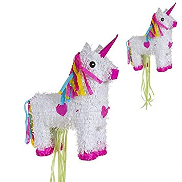 DCASA- Piñata de tirar unicornio (290905), Multicolor (1)