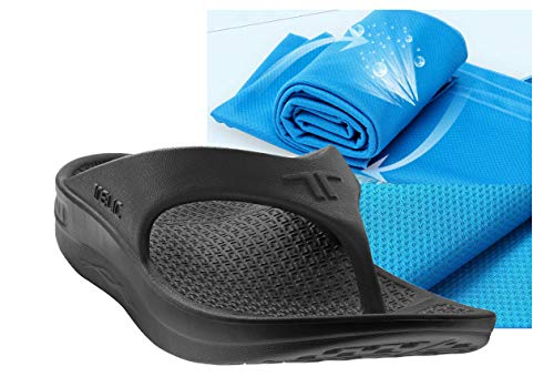 751e95005637 Telic Unisex Arch Support Flip Flops   Bob Sports Towel Shoe