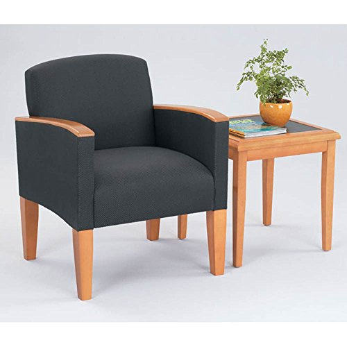 Lesro Belmont Guest Chair - Lesro Belmont Fabric Guest Chair w/End Table Dimensions: 26