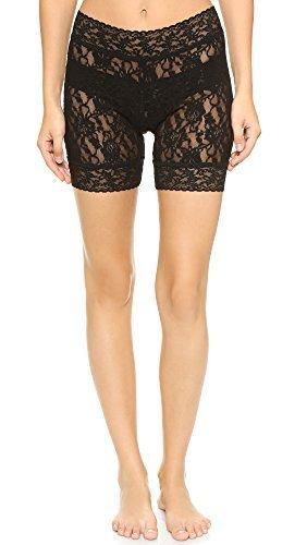 Hanky Panky Women's Signature Lace Biker Shorts Black Pantyhose SM