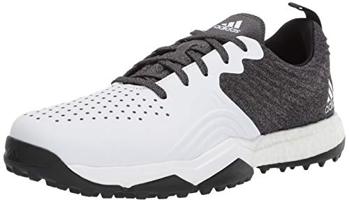 adidas Men's Adipower 4ORGED S Golf Shoe, core Black/FTWR White/Silver Metallic, 11 M US