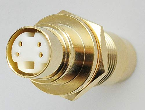 (Gold Plated S-Video Coupler/Adapter. Mini-Din Chassis/Bulkhead Mount Female to Female Connector)