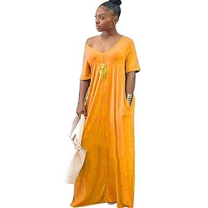 Amazon.com: JUNCHUANG Vestido largo elegante para embarazada ...