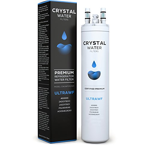 Premium Crystal ULTRAWF water filter - Replacement For 46-9999 Side-By-Side Refrigerators - FGHC2331PF 242017800 242017801 PS2364646 A0094E28261 FGHS2631PF4A [WQA Certified]