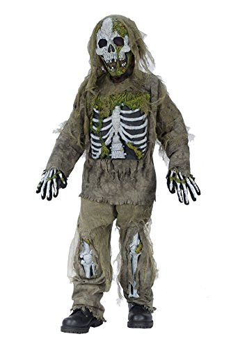 Plus Size Skeleton Zombie Costumes (UHC Boy's Skeleton Zombie Kids Child Fancy Dress Party Halloween Costume, M (7-10))