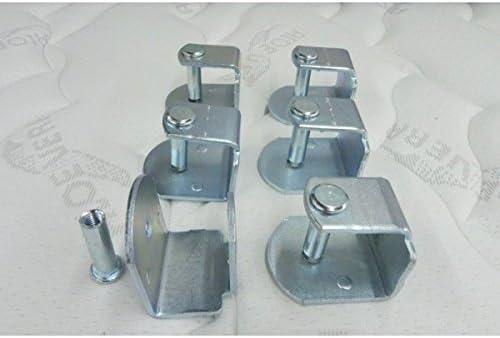 Abitti Pack 6 Abrazaderas metálicas para somier de Tubo 30x30mm, Sistema antiruido de Gran Estabilidad y Resistencia.