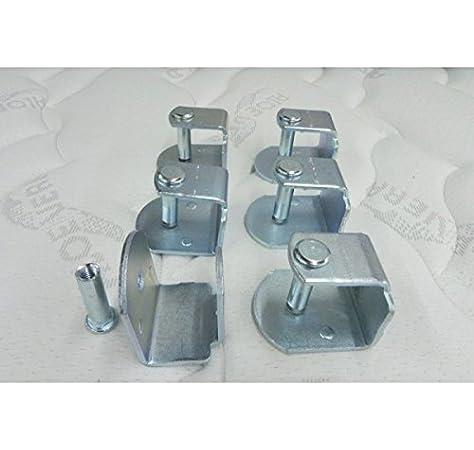 Abitti Pack 6 Abrazaderas metálicas para somier de Tubo 40x30mm, Sistema antiruido de Gran Estabilidad y Resistencia.: Amazon.es: Hogar