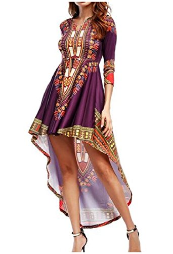 high low african print dresses - 9
