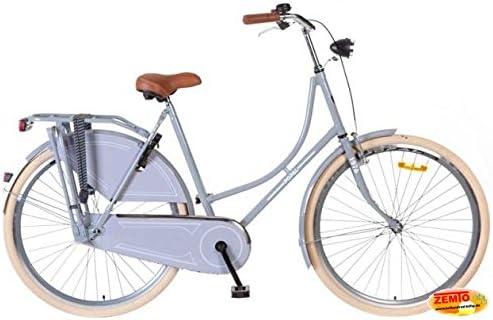 Bicicleta holandesa para mujer 28 pulgadas poza gris 57 cm: Amazon ...