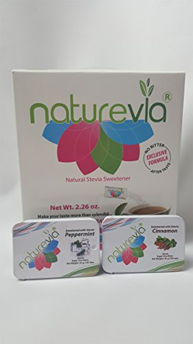 Sugar free Sweetener with stevia Naturevia 80 packs + Sug...