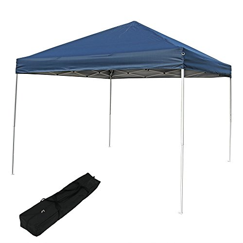 9' Blue Canopy Tent - Quick-Up Instant Canopy Event Shelter with Carrying Bag, 10 x 10 Foot Straight Leg, Navy Blue by Sunnydaze