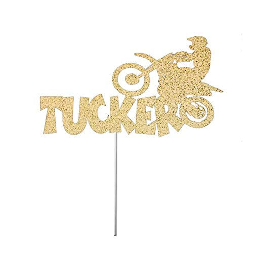 Gold Cross Cycles - Motocross Cake Topper, Personalized, Party Decor, Cake Topper, Motor Cycle, Motocross Theme, Birthday Party, Dirt Bike, Personal Dirt Bike