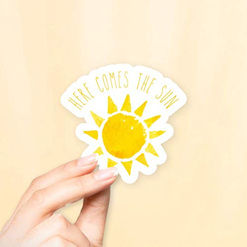 Here Comes The Sun Sticker for Laptops and Water ()