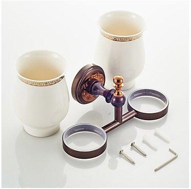 WEIYU Toilet Brush Holder Neoclassical Brass 1 Pc - Hotel Bath