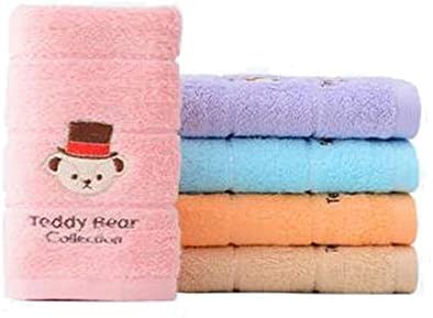 CQIANG タオル、綿タオル、子供用タオル、青/ピンクのマルチカラーオプション50 * 25 Cm (Color : Multi-colored, Design : A)