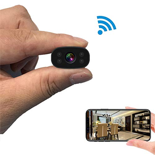 Hidden Cameras PNZEO Mini Spy Cam 1080P HD Night Vision Wireless WiFi Remote View Cameras Tiny Home Security Cameras Indoor Outdoor Camera Smart Motion Detection