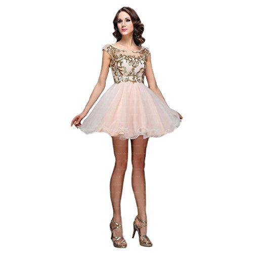 Für Rosa Mini Ball Volant Festamo Kleid bei Damen Design Ital wgPIqxS