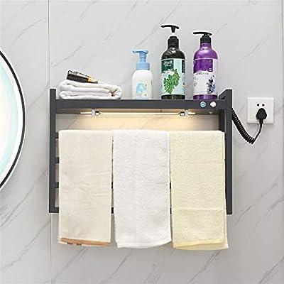 MJDwarmer radiador toallero electrico Toallero con calefacción, radiador de Escalera de baño Gris Antracita, radiadores de Pared para baño con lámpara germicida UV, 580x400x150 mm: Amazon.es: Hogar