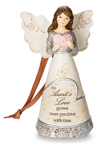 Pavilion Gift Company 82377 Aunt Angel Ornament Figurine Including Ribbon for Hanging, 4-1/2