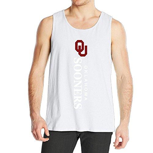 Men's Oklahoma Sooners Logo Tank Top White