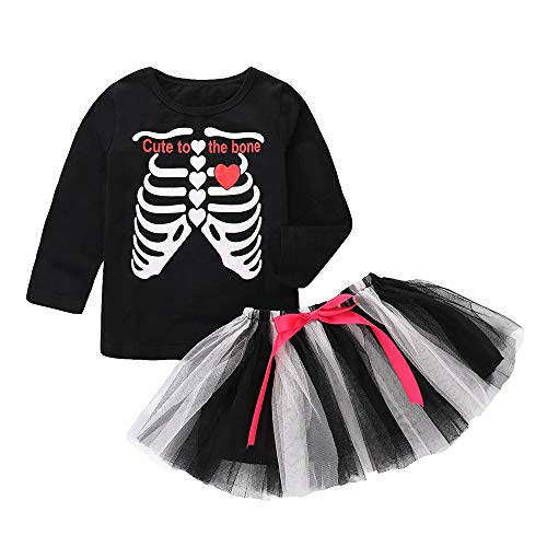 Happy Halloween Toddler Baby Girls Bodysuit Tutu Dress