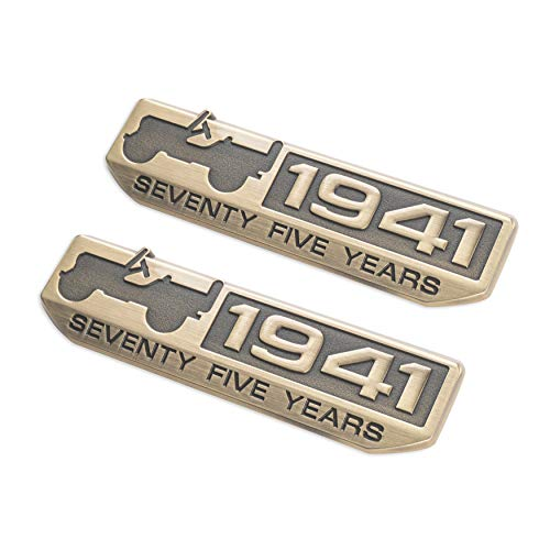75 Year 1941 Anniversary Emblem 75th Year Badge for Jeep (Brone-colored) 2Pack