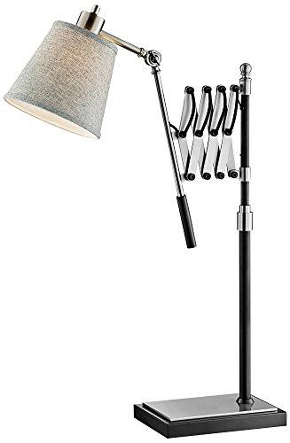 Lite Source Caprilla Brushed Nickel Extendable Desk (Lite Source Chrome Adjustable Floor Lamp)