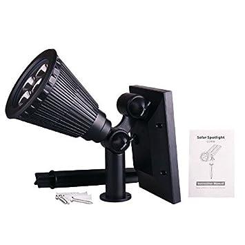 hooyl foco Solar LED con Planter lámpara escolar detector de movimiento, 28 LED luz de
