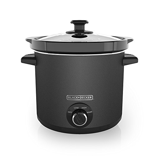 BLACK+DECKER SC4004D 4 Quart Dial Control Slow Cooker with Built in Lid Holder, Chalkboard Surface (Chalk Included)