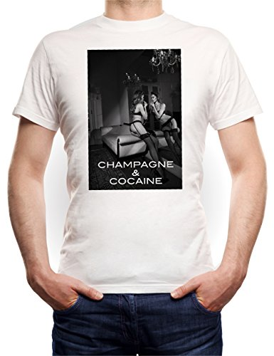 Champagne And Cocaine Sexy B T-Shirt White