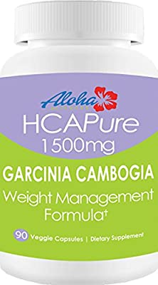 100% HCA Pure Garcinia Cambogia 1500mg 90 Veggie Capsules as seen on Dr.Oz* Premium Appetite Suppressant Carb Blocker and Weight Loss