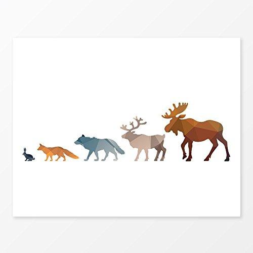Cheap  Woodland Animals Wall Art Print 11x14 Great Forest Nursery Decor
