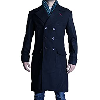 Prime American Leather Products Men's Sherlock Coat 4XL Black