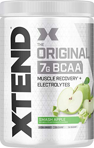 Scivation Xtend BCAA Powder, Branched Chain Amino Acids, BCAAs, Green Apple, 30 Servings