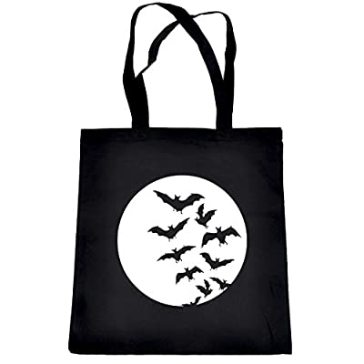Full Moon with Vampire Bat Swarm Tote Bag Alternative Clothing Book Bag free shipping