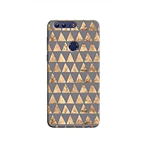 Cover It Up - Brown Grey Triangle Tile Honor 8 Hard Case
