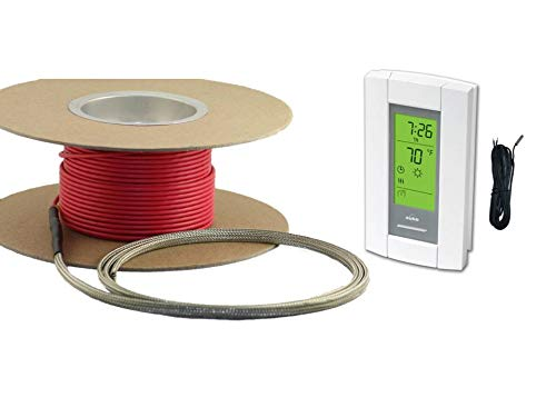 20 Sqft Cable Set, Electric Radiant Floor Heat Heating System with Aube Digital Floor Sensing Thermostat