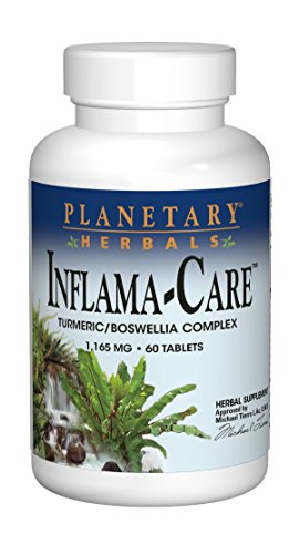 Planetary Herbals Inflama-Care Turmeric/Boswellia Complex 1165mg, Increases Full-Body Antioxidant Activity, 60 Tablets